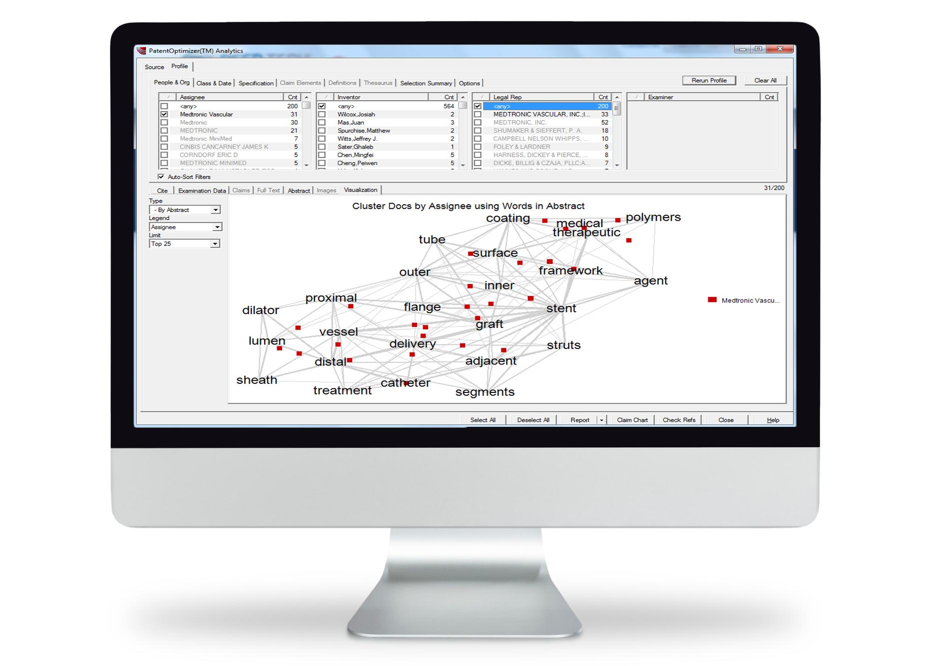PatentOptimizer Product on Monitor